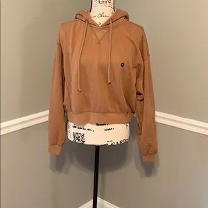 Brown cropped sweatshirt